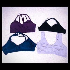Sports bras 4 piece bundle